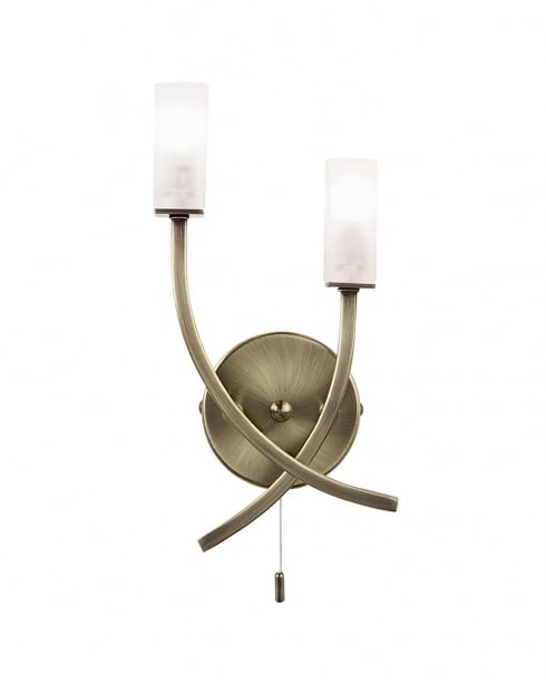 Endon 146-2AB Havana 2 Light Modern Decorative Wall Light