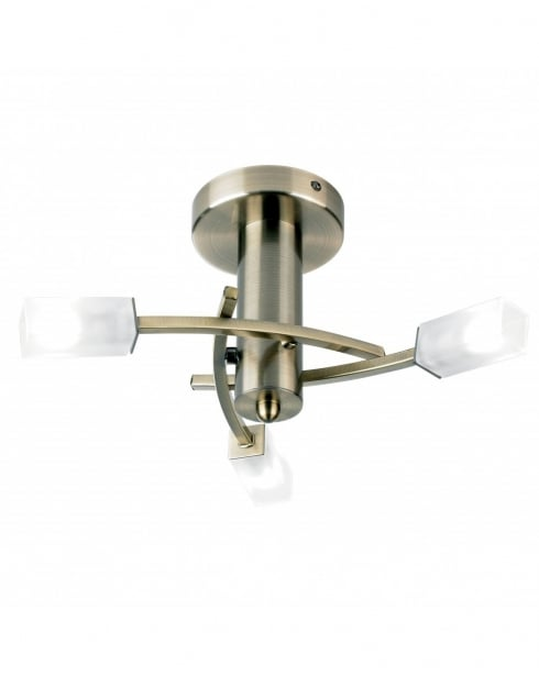 Endon 146-3AB 3 Light Modern Semi-Flush Fitting