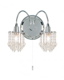 Endon 850-2CH 2 Light Crystal Decorative Wall Light