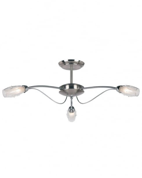 Endon 9009-3SC 3 Light Modern Semi-Flush Fitting