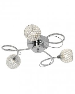Endon Aherne 3 Light Modern semi-flush Ceiling Fitting AHERNE-3CH