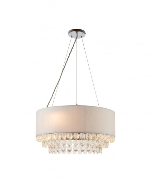 Endon Amalea Modern Grey Pendant Light 70186