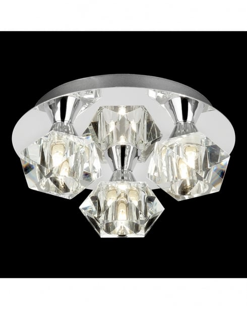Endon Arietta 3 Light Modern semi-flush Ceiling Fitting ARIETTA-3PCH