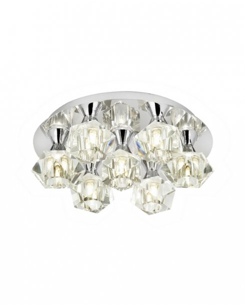 Endon Arietta 7 Light Modern semi-flush Ceiling Fitting ARIETTA-7PCH