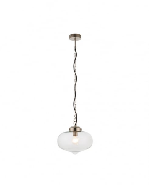 Endon Beckinsale Modern Nickel Pendant Light 71075
