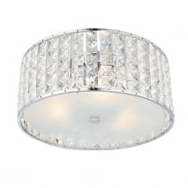 Endon Belfont Crystal Chrome Bathroom Ceiling 61252