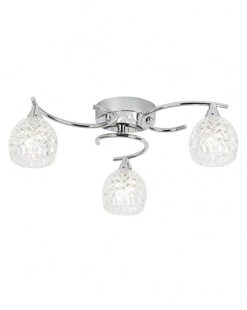Endon Boyer 3 Light Traditional semi-flush Ceiling Fitting BOYER-3CH
