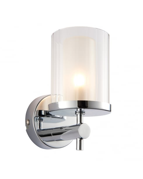 Endon Britton Modern Chrome Bathroom Wall Light 51885