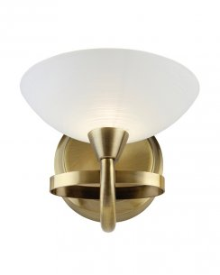 Endon Cagney Single Light Traditional Decorative Wall Light CAGNEY-1WBAB