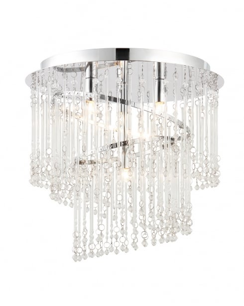 Endon Camille Modern Clear Flush Ceiling Fitting 68698