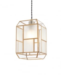 Endon Chatsworth Modern Brass Non-Electric Pendant Shade 73300