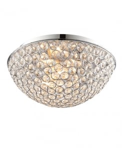 Endon Chryla Crystal Chrome Bathroom Ceiling 60103