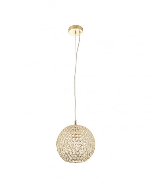 Endon Claudia Modern Brass Pendant Light 68991