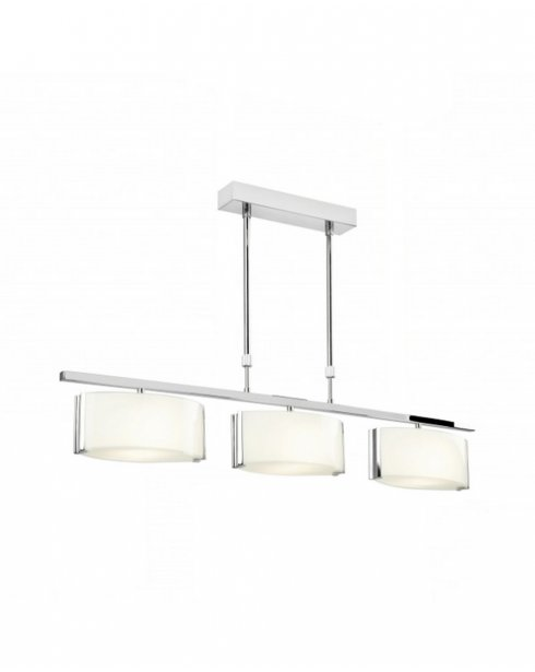 Endon Clef 3 Light Modern Pendant Light CLEF-BAR-3CH