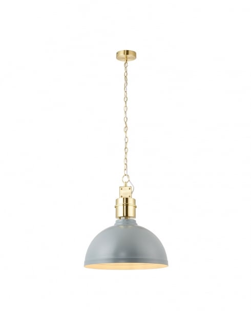 Endon Collingham Modern Grey Pendant Light 67557