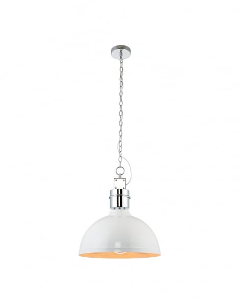 Endon Collingham Modern White Pendant Light 67556