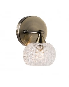 Endon Eastwood Modern Brass Decorative Wall Light 60921