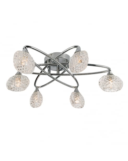 Endon Eastwood Modern Chrome Semi-Flush Light 60925