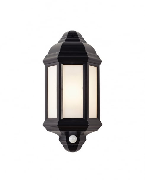 Endon EL-40115 Traditional Black Outdoor Wall Light IP44 with PIR