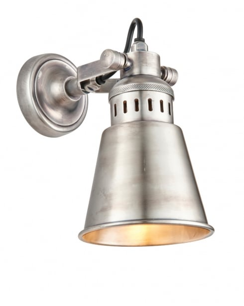 Endon Elms Modern Silver Decorative Wall Light 73524