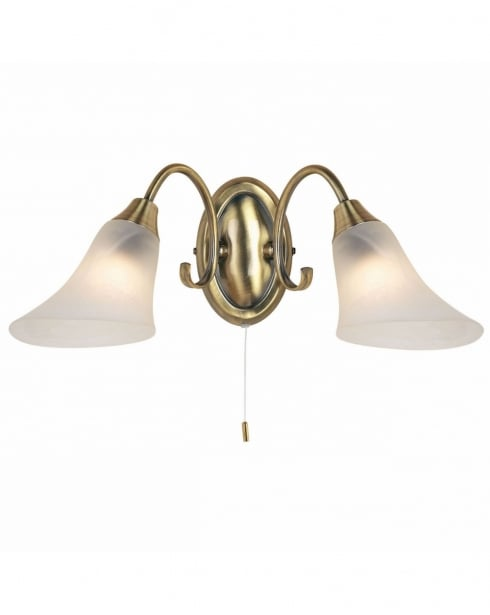 Endon 144-2AN 2 Light Traditional Decorative Wall Light