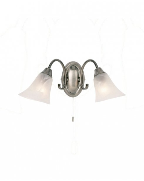 Endon 144-2AS 2 Light Traditional Decorative Wall Light