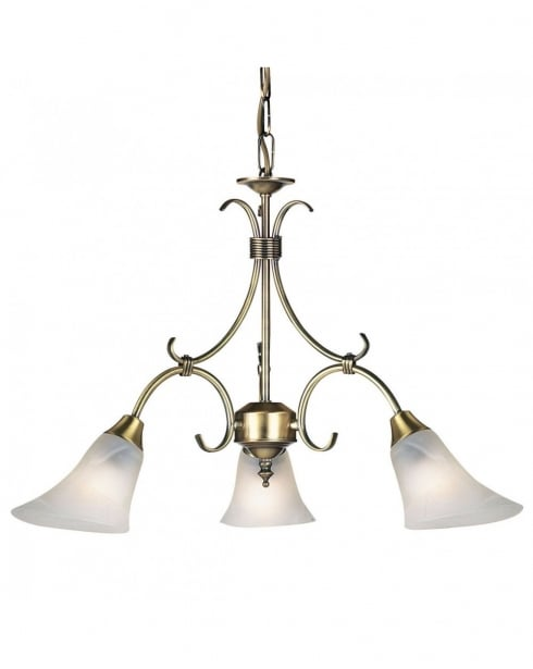 Endon 144-3AN 3 Light Traditional Multi-Arm Pendant