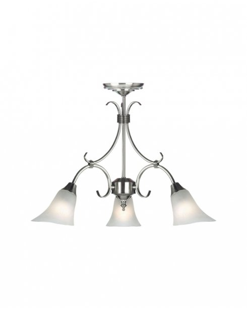 Endon 144-3AS 3 Light Traditional Multi-Arm Pendant