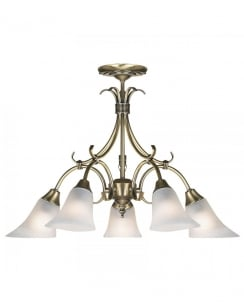 Endon 144-5AN 5 Light Traditional Multi-Arm Pendant
