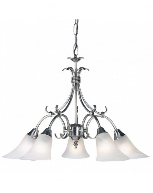 Endon 144-5AS 5 Light Traditional Multi-Arm Pendant