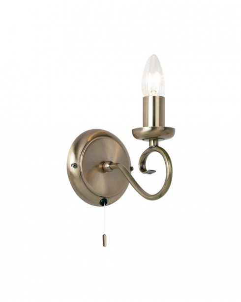 Endon 180-1AN Single Light Traditional Decorative Wall Light