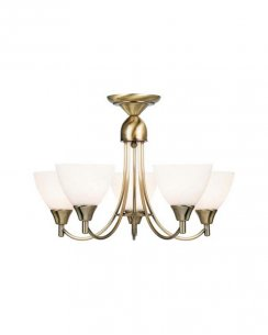 Endon 1805-3AN 3 Light Modern Multi-Arm Pendant