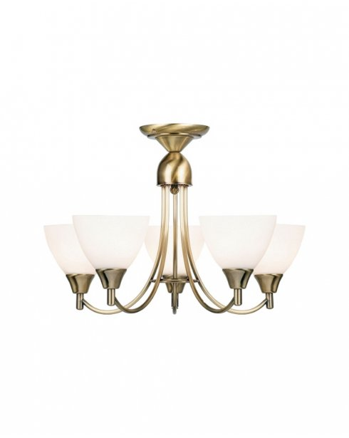 Endon 1805-5AN 5 Light Modern Multi-Arm Pendant