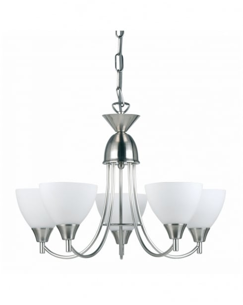Endon 1805-5SC 5 Light Modern Multi-Arm Pendant