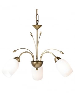 Endon 2007-3AN 3 Light Traditional Multi-Arm Pendant