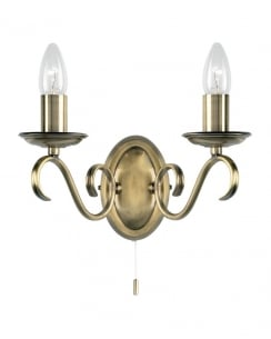Endon 2030-2AN Bernice 2 Light Decorative Wall Light