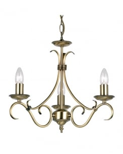 Endon 2030-3AN 3 Light Traditional Chandelier
