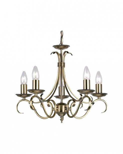 Endon 2030-5AN 5 Light Traditional Chandelier