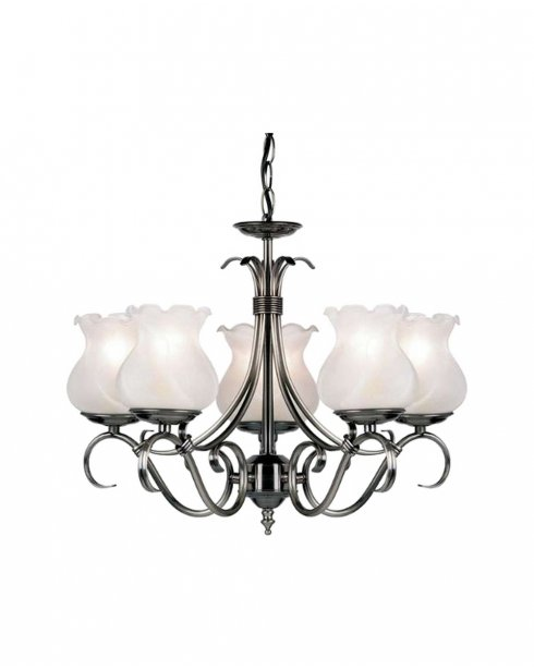 Endon 2030-5AS 5 Light Traditional Chandelier