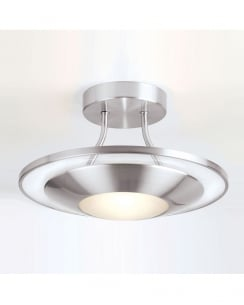 Endon 387-30SC Single Light Modern Flush Ceiling Fitting