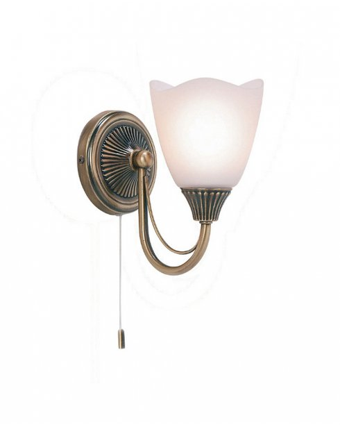 Endon Tiffany Wall Lights : Endon 601-1AN Haughton Single Light Traditional Wall Light