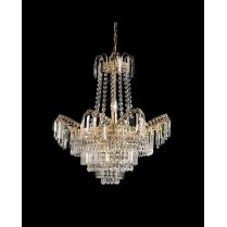 Endon Adagio 9 Light Crystal Chandelier 96819-GO