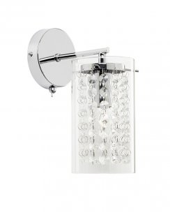 Endon Alda Single Light Crystal Decorative Wall Bracket ALDA-1WBCH