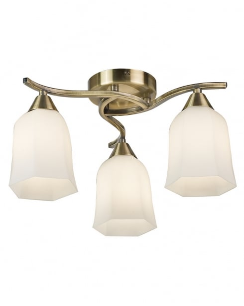 Endon Alonso 3 Light Traditional semi-flush Ceiling Fitting 96973-AB