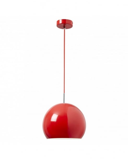 Endon Alzira Single Light Modern Pendant Light ALZIRA-RE