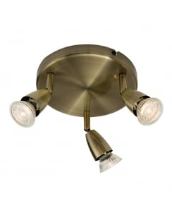 Endon Amalfi Modern Brass Spotlight Fitting 60997