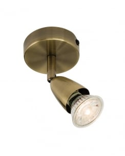 Endon Amalfi Modern Brass Wall Mounted Spotlight 60998