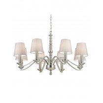 Endon Astaire 8 Light Satin Nickel Multi-Arm Pendant ASTAIRE-8SN