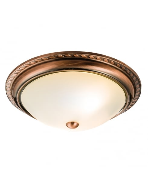 Endon Athens Traditional Copper Flush Ceiling Fitting 61240