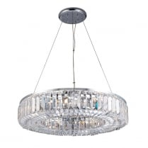 Endon Banderas Crystal Chrome Pendant Light 61151